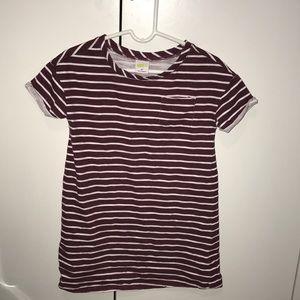 Burgundy Strip Toddler dress